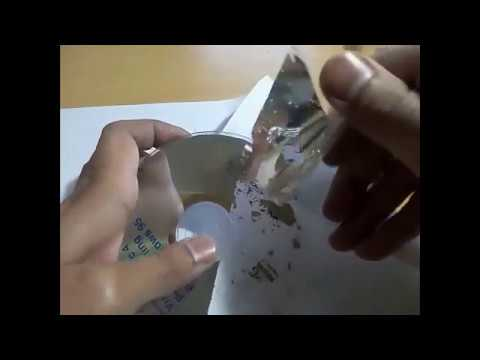 How to recycle CD/DVD to a clear plastic disc for reuse.
