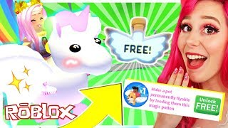 How To Get A FREE FLYING PET POTION In Adopt Me.. Roblox Adopt Me NEW FLYING PET POTION Update