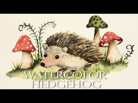 Watercolor Painting For Beginners/ Woodland Animal/ Hedgehog/ Step by Step Tutorial thumbnail