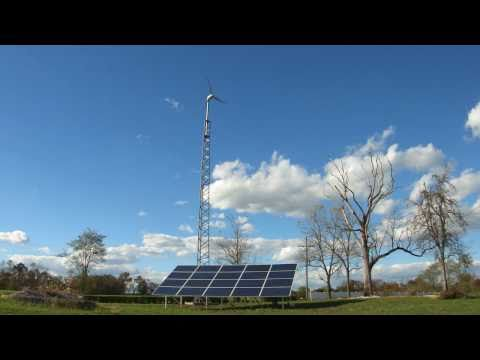 WIND AND SOLAR energy hybrid system