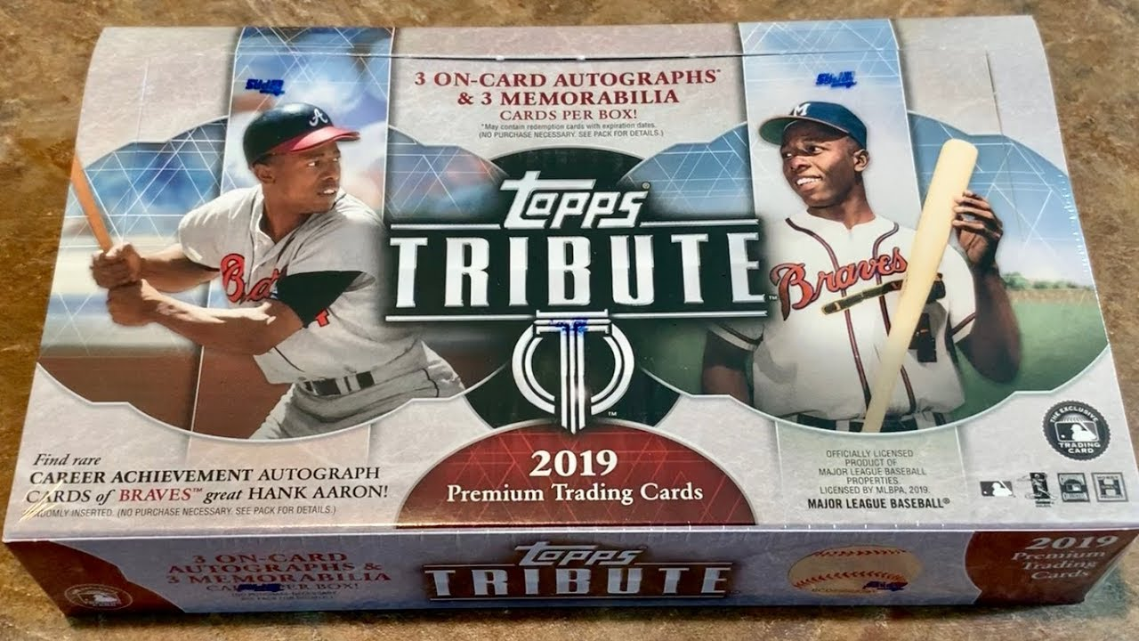 New Release 2019 Topps Tribute Baseball Card Box Opening