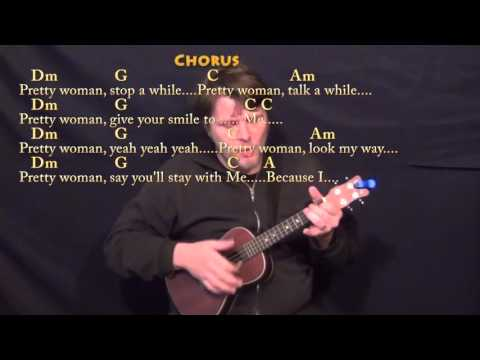 Pretty Woman (Roy Orbison) Ukulele Cover Lesson with Chords/Lyrics