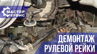 Демонтаж рулевой рейки Mitsubishi Outlander