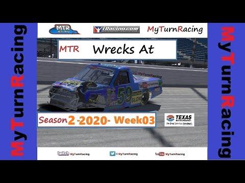 MTR Wrecks W03 S2 2020 Texas Motor Speedway iRacing