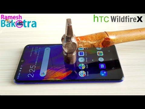 HTC Wildfire X Screen Scratch Test