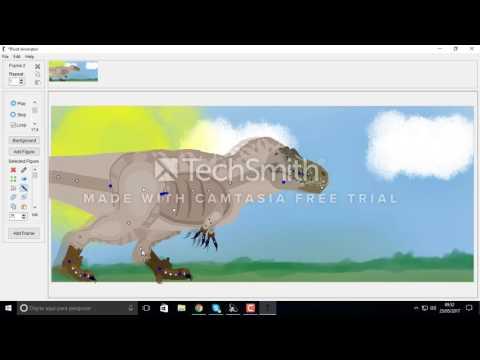 Tyrannosaurus Rex Contest: Tutorial how to make a dinosaur walk 3/3.