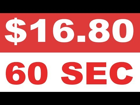 MAKE $16.80 IN 60 SECONDS FOR FREE (MAKE MONEY ONLINE)