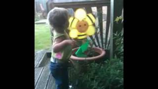"Aimee kissing ""bee""..."