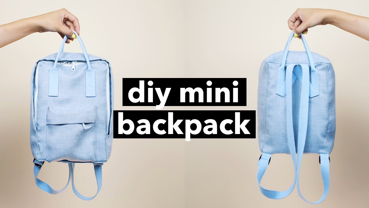 0cc6451d26ed DIY Mini Backpack From Scratch! (Fjällräven Kånken style) | WITHWENDY -  YouTube