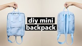 One of withwendy's most viewed videos: DIY Mini Backpack From Scratch! (Fjällräven Kånken style) | WITHWENDY