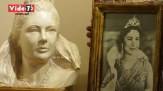 شاهد لوحات وصور نادرة للمكلة فريدة مع الملك فاروق قبل افتتاح متحفها