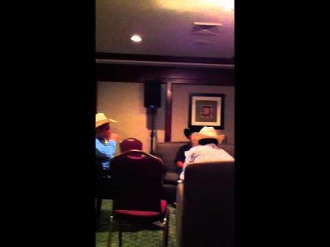 Karaoke scene at the Holiday Inn Express in Visalia