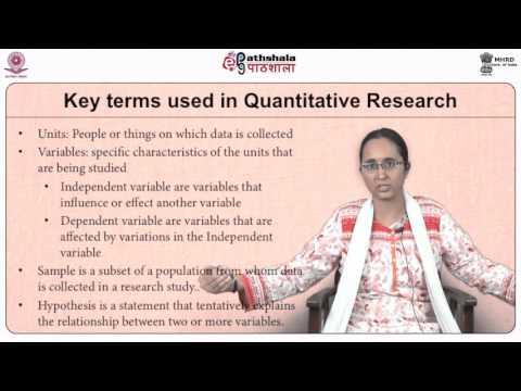 Quantitative Research Methods (SWE)