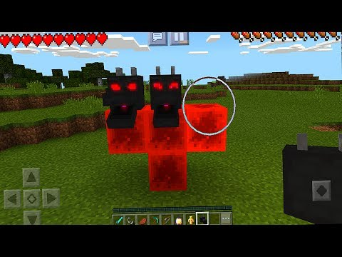 How to make a fire dragon in minecraft pocket edition