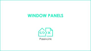 2B Revit to PHPP PassivLink: Window Panels