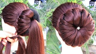 Most Beautiful Hairstyle For Party/Wedding ||  hairstyles for short hair || prom hairstyles