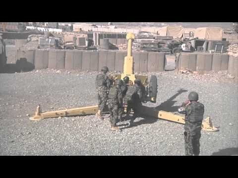 Artillery Fire By Afghan National Army - 203rd Thunder Corps, 4th Kandak Artillery Demonstration