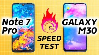 Redmi Note 7 Pro vs Samsung M30 Speed Test - A Galaxy Apart?