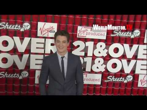 '21 and Over' Film premiere Arrivals -  Miles Teller, Skylar Astin, Sarah Wright, Justin Chon