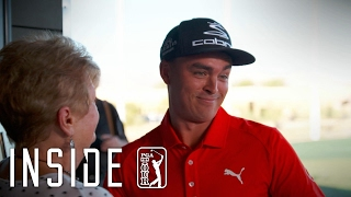 Rickie Fowler puts fans' swing skills to the test