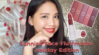 Sunnies Face Fluffmattes Holiday Edition Lipstick Review | Philippines | @munyehkels