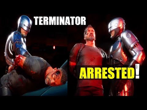 Robocop ARRESTS Terminator ( Mortal Kombat 11 - Aftermath  Robocop VS Terminator - Who Wins? ) |