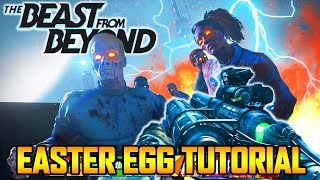 THE BEAST FROM BEYOND EASY MAIN EASTER EGG TUTORIAL GUIDE WALKTHROUGH Infinite Warfare Zombies