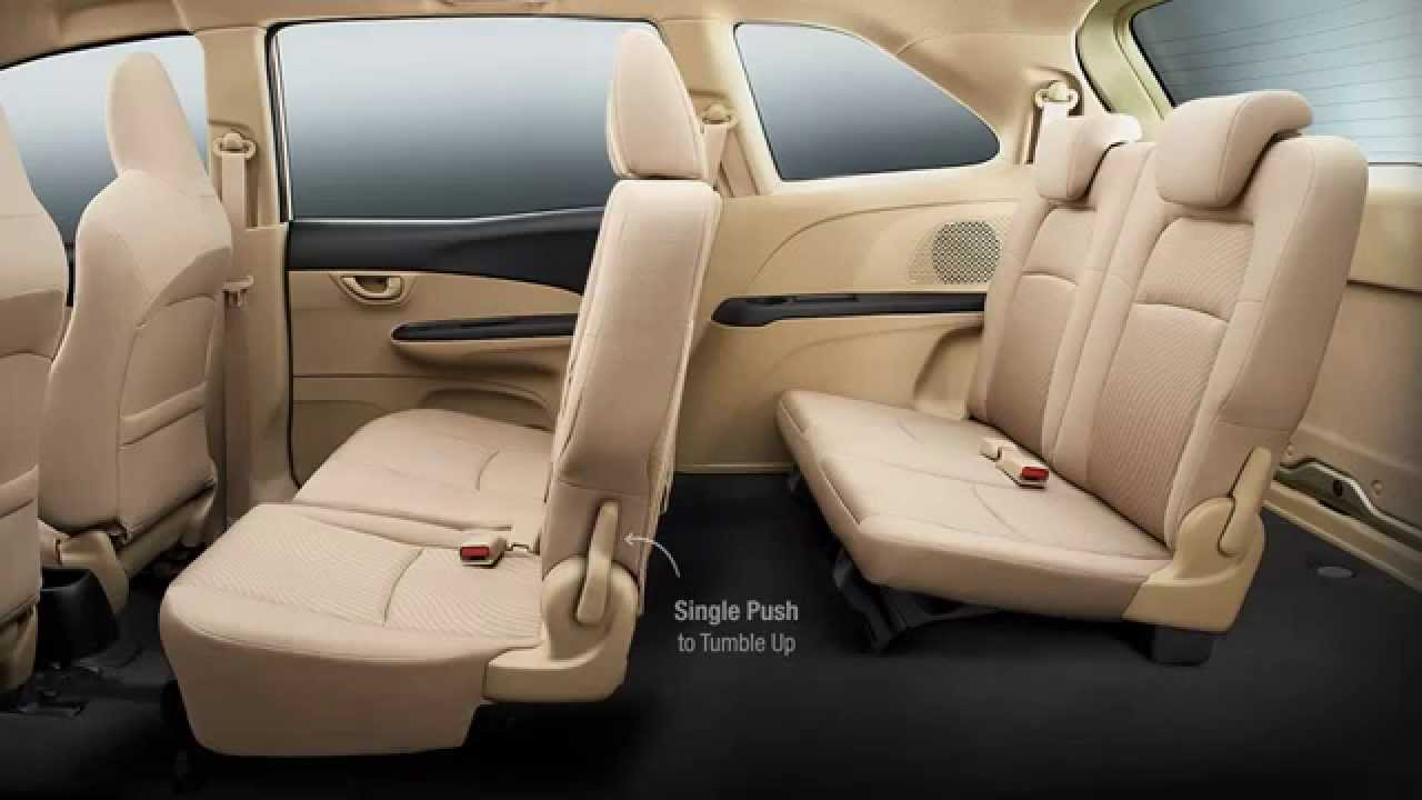honda mobilio car interior single touch tumble up youtube. Black Bedroom Furniture Sets. Home Design Ideas