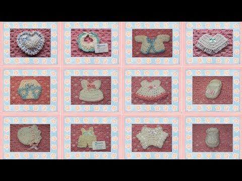 Recuerdos para Baby Shower o Bautizo elaborados a mano (crochet ...
