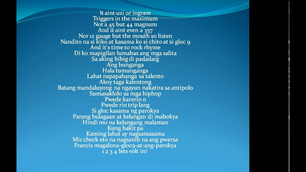 Bagsakan Lyrics - YouTube