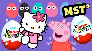 Peppa Pig Kinder Surprise eggs Play Doh Hello Kitty [MST]