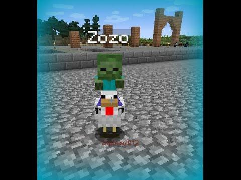 Minecraft goodies b b zombie sur une poule zozo sur la - Poule minecraft ...
