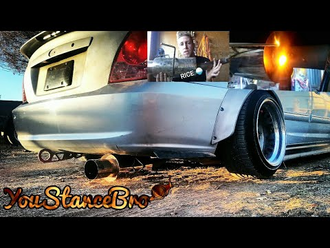 how to install a honda civic exhaust fart can on your car rev youtube. Black Bedroom Furniture Sets. Home Design Ideas
