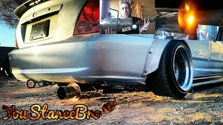 how to install a Honda Civic Exhaust (fart can) on your car +rev