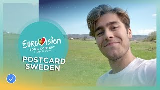 Postcard of Benjamin Ingrosso from Sweden - Eurovision 2018
