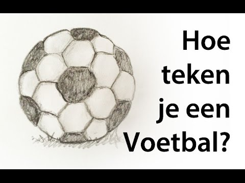 Hoe teken je een voetbal how to draw a soccerball youtube