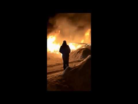 Пожар в Заволжске глазами очевидца
