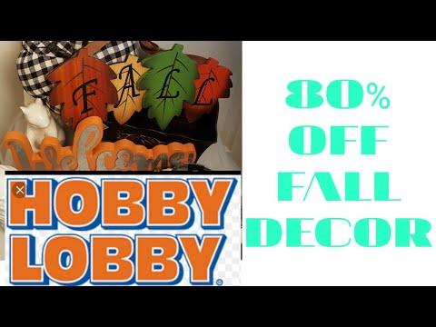 RUN!!!!HOBBY LOBBY|80 % OFF FALL DECOR|HAUL|SHOP WITH ME ON A BUDGET(2019)