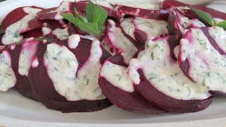 Roasted Beets With Yogurt Sauce -- The Frugal Chef