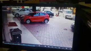 Caught On Camera : Speeding police jeep hits bike in Thiruvananthapuram