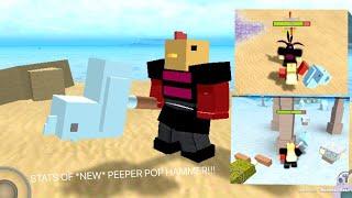 ROBLOX Booga Booga   STATS OF *NEW* PEEPER POP HAMMER!!! (OP OR NOT?!)