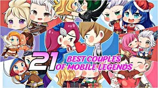MOBILE LEGENDS ALL 21 COUPLES ♥️ MOBILE LEGENDS BEST COUPLE 2019 ♥️ MOBILE LEGENDS