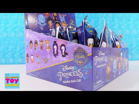Disney Princess Aladdin Figural Bag Clip Series 21 Full Box Opening | PSToyReviews