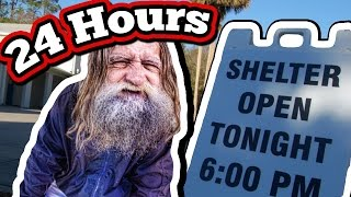 (WOW!!) 24 Hour Challenge In Homeless Shelter // Staying Overnight In A Homeless Shelter Challenge