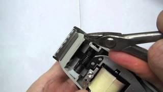 MOSER 1400 - выставление малого ножа при перекосе