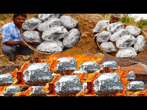 Roasted Whole Chicken In Traditional Way/Grilled Chicken In Aluminium Foil Paper/food Fun Village