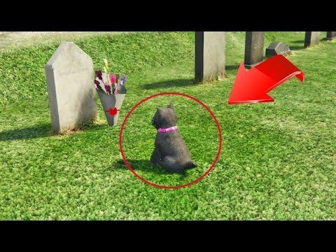 ¡Emocionante! perro visita la tumba de su dueño en GTA 5!  - GTA V (Grand Theft Auto 5)