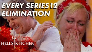 Every Series 12 Elimination On Hell's Kitchen
