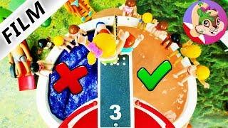 Playmobil Rodzina Wróblewskich - Nie wskocz do złego basenu | Challenge w Aquaparku