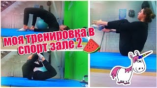 МОЯ ТРЕНИРОВКА В СПОРТЗАЛЕ 2 // Упражнения на попу, спину, пресс, бока